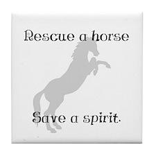 Rescue Grey Tile Coaster