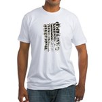 Wheel Print Fitted T-Shirt