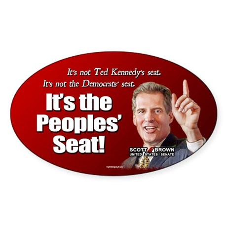 People's Seat Oval Sticker