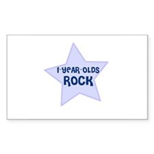 1-Year-Olds Rock Rectangle Decal