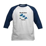 Big Brother to Twins Kids Baseball Jersey