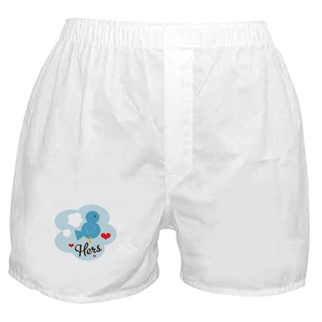 Matching Love Bird Hers Boxer Shorts