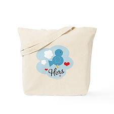 Matching Love Bird Hers Tote Bag