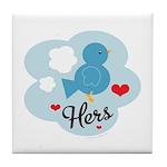 Matching Love Bird Hers Tile Coaster