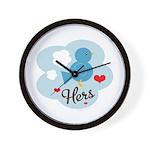 Matching Love Bird Hers Wall Clock