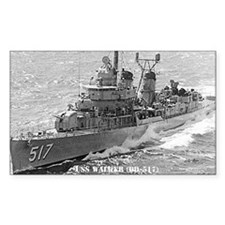 USS WALKER Rectangle Sticker 50 pk)
