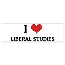 I Love Liberal Studies Bumper Bumper Sticker