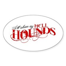 Hellhounds on the Way Oval Decal