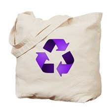 Purple Recycling Symbol Tote Bag