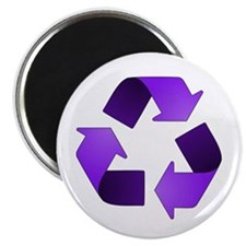 """Purple Recycling Symbol 2.25"""" Magnet (100 pack)"""