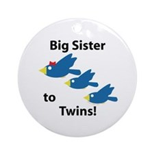 Big Sister to Twins Ornament (Round)