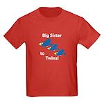 Big Sister to Twins Kids Dark T-Shirt