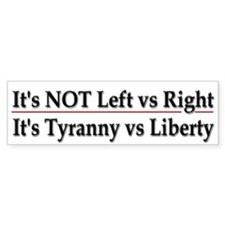 It's not left vs right - Car Sticker
