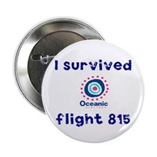 "I survived Oceanic flight 815 2.25"" Button"