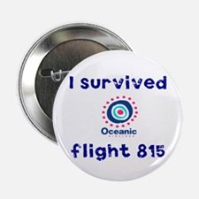 """I survived Oceanic flight 815 2.25"""" Button"""