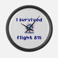 I survived Oceanic flight 815 Large Wall Clock