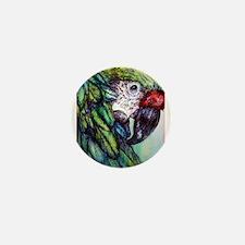 Amazon, Green Parrot Mini Button