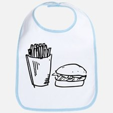 Burger and Fries Bib