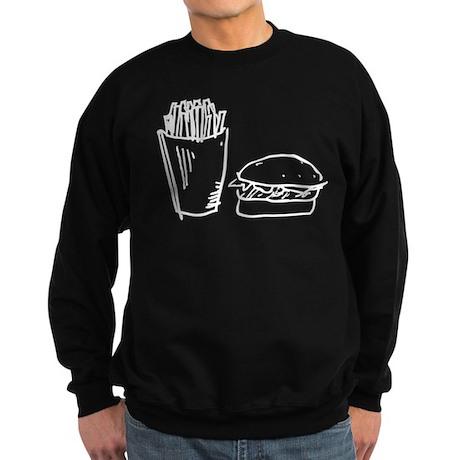 Burger and Fries Sweatshirt (dark)