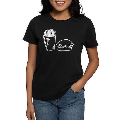 Burger and Fries Women's Dark T-Shirt