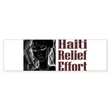 Haiti Effort Bumper Car Sticker