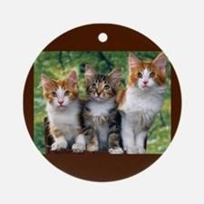 3 Cats Ornament (Round)