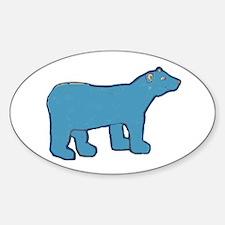 Blue Bear Oval Decal