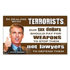 Scott Brown - Dealing With Terrorists Decal