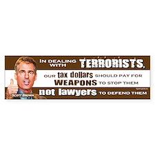 Scott Brown - Dealing With Terrorists Bumper Sticker