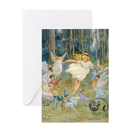 dancing in the fairy Greeting Card