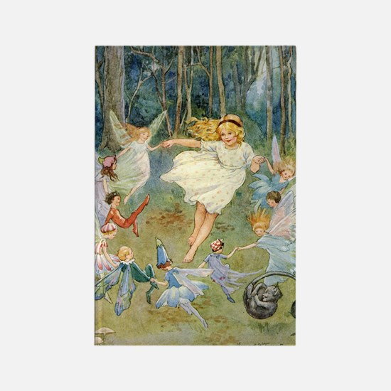 dancing in the fairy Rectangle Magnet