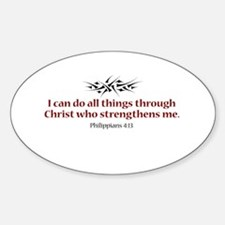 Philippians 4:13 Oval Decal