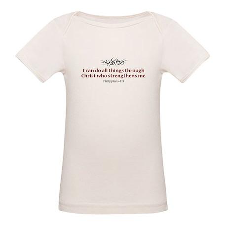 Philippians 4:13 Organic Baby T-Shirt