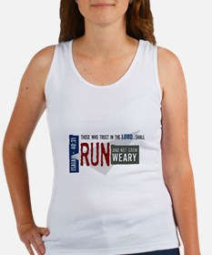 Run and not grow weary Women's Tank Top