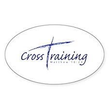 Cross Training Oval Sticker (10 pk)
