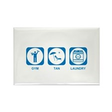 Gym Tan Laundry Rectangle Magnet