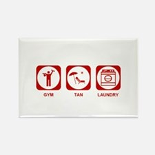 Gym Tan Laundry Rectangle Magnet (10 pack)