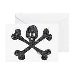 Skull and Crossbones Greeting Cards (Pk of 10)