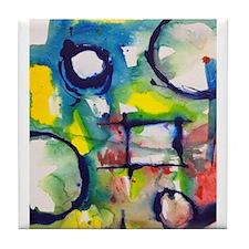 """Composition Square #1-B"" Tile Coaster"