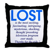LOST is Throw Pillow