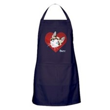 Kitty Kind Valentine's Red Heart Cat Apron (dark)