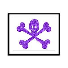 PurpleSkull&Crossbones Framed Panel Print