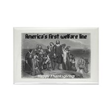 """America's First Welfare Line"" Rectangle Magnet"