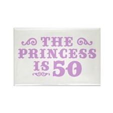 The Princess is 50 Rectangle Magnet