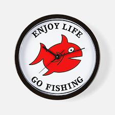 Enjoy Life Go Fishing Wall Clock