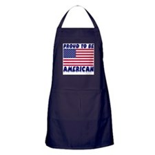 Proud to Be American Apron (dark)