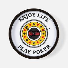 Enjoy Life Play Poker Wall Clock