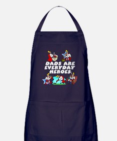Dads Are Everyday Heroes Apron (dark)