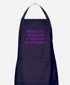 Children Are Blessings Apron (dark)