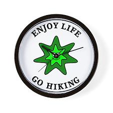 Enjoy Life Go Hiking Wall Clock